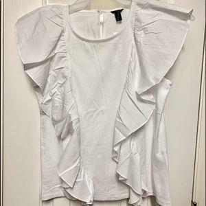 J Crew ruffled blouse